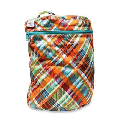 Kanga Care Cloth Diaper Wet Bag in Quinn Plaid
