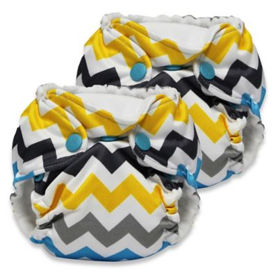 Kanga Care Lil Joey Newborn 2-Pack All-In-One Cloth Diaper in Charlie