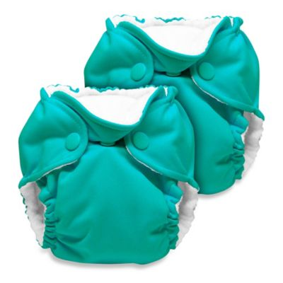 Kanga Care Lil Joey Newborn 2-Pack All-In-One Cloth Diaper in Peacock