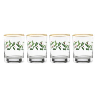 Lenox® Holiday™ Double Old Fashioned Glasses (Set of 4)
