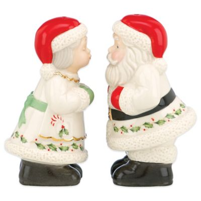 Lenox® Holiday™ 3-Inch Santa & Mrs. Claus Salt & Pepper Shaker Set