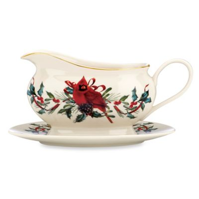 Lenox® Winter Greetings® Cardinal Gravy Boat and Stand