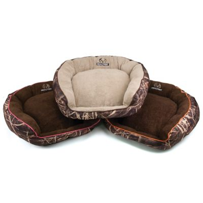 Large Camo Bolstered Pet Bed
