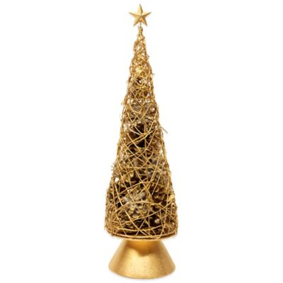Holiday Wire Tree in Gold