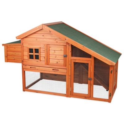 Trixie 2-Story Chicken Coop with a View in Brown