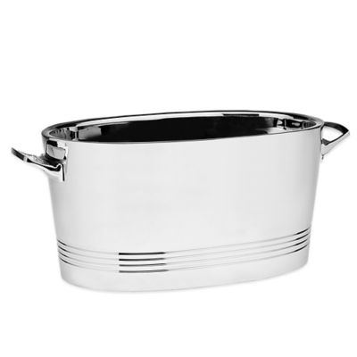 Top Shelf Silver Stainless Steel Double-Wall Cocktail Party Tub