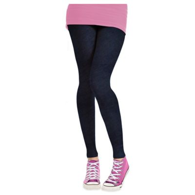 Ladies Cozy Fleece-Lined Medium Denim Stretch Leggings