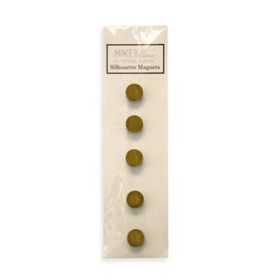 Mini Magnet in Gold (Set of 5)