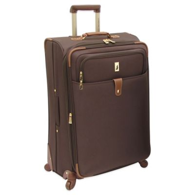 London Fog® Chelsea Lites 360º 29-Inch Expandable Spinner in Chocolate