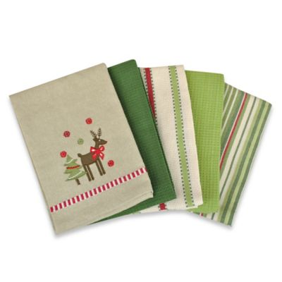 Reindeer Kitchen Towel (Set of 5)