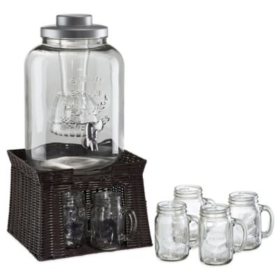 Clear Glass Beverage Set