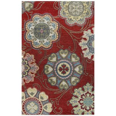 Trella 25.6-Inch x 43.3-Inch Kitchen Rug in Red
