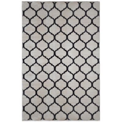 Radiance Fret 6-Foot 6-Inch x 9-Foot 10-Inch Area Rug in Ivory/Grey