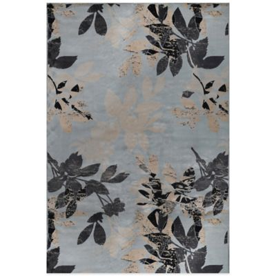 Radiance Botanical 6-Foot 6-Inch x 9-Foot 10-Inch Area Rug in Sky Blue