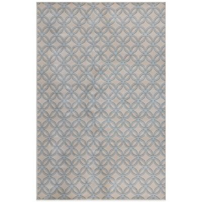 Radiance Circle Fret 6-Foot 6-Inch x 9-Foot 10-Inch Area Rug in Ivory/Blue