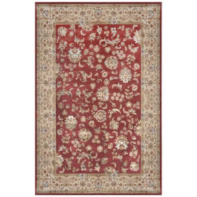 Radiance Traditional 6-Foot 6-Inch x 9-Foot 10-Inch Area Rug in Rust
