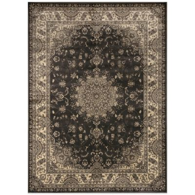 Radiance Traditional 6-Foot 6-Inch x 9-Foot 10-Inch Area Rug in Dark Grey