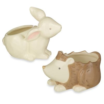 Grasslands Road® 2-Piece Bunny & Hedgehog Cotton Ball & Swab Holder Set