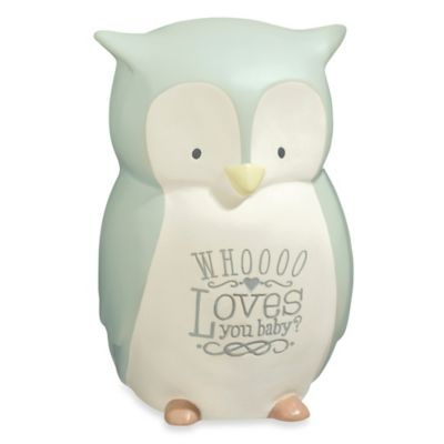 "Grasslands Road® Owl ""Whoooo Loves You Baby?"" Desktop Nightlight"