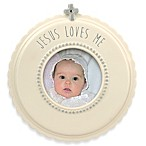 Grasslands Road®  Jesus Loves Me  Round Photo Frame