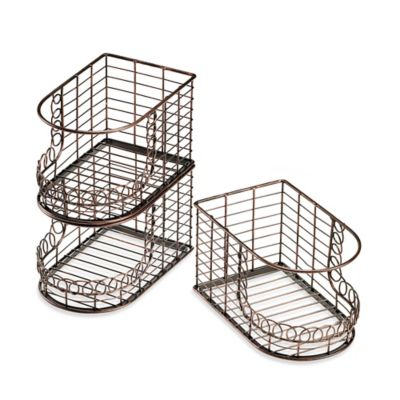 Mesa French Loop Collection Stacking Storage Basket (Set of 3)