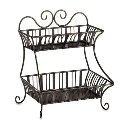 Mesa Delaware Collection 2-Tier Flat Back Basket