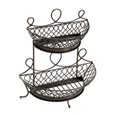 Mesa Pasha Collection 2-Tier Flat Back Basket