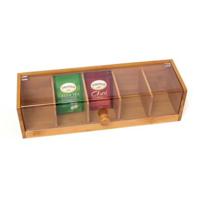 Lipper International Bamboo Tea Box with Acrylic Cover