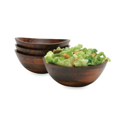 Lipper International Wavy Rim Bowls in Cherry (Set of 4)