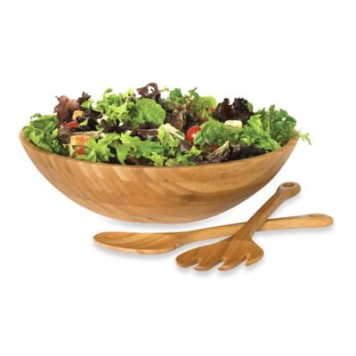 International Bamboo Salad Bowls