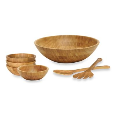 Lipper International 7-Piece Bamboo Salad Set