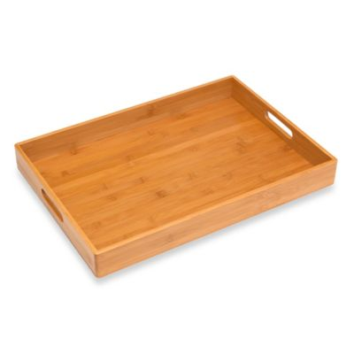 Lipper International Solid Bamboo Tray