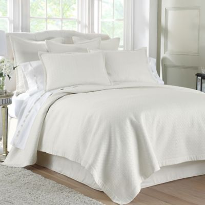 Waterford® Linens Durham Quilt Standard Pillow Sham in Ivory