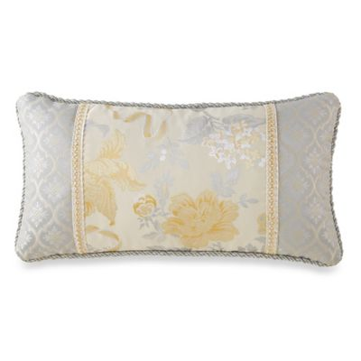 Waterford® Linens Eveleen Button Oblong Throw Pillow