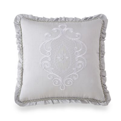 Waterford® Linens Eveleen Flange Square Throw Pillow