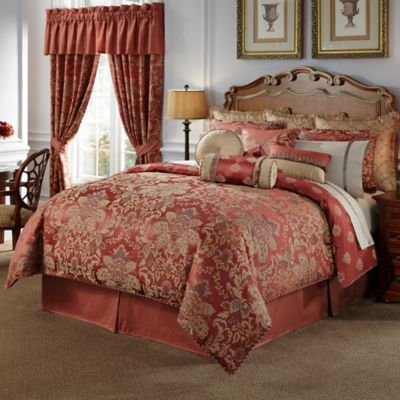 Waterford® Linens Hamilton Reversible 4-Piece Queen Comforter Set