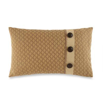 Waterford® Linens Harrison Button Oblong Throw Pillow