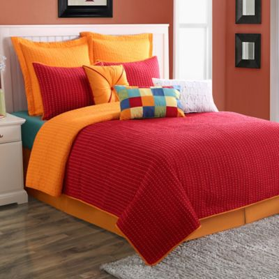 Fiesta® Dash Pic Stich Reversible King Quilt Set