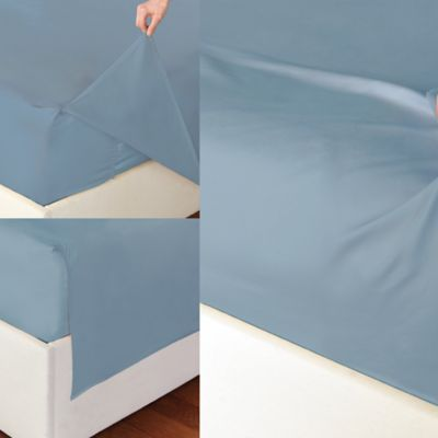 The Easy Sheet® 400 Thread Count Sheet Set in Light Blue