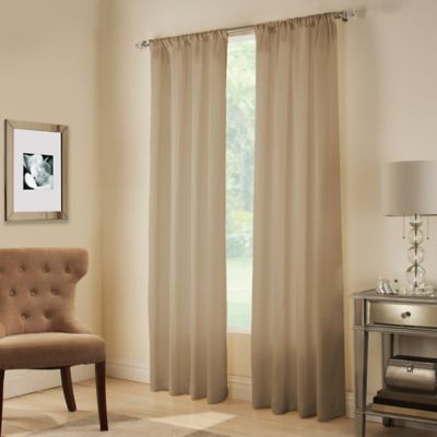 Midtown Rod Pocket 63-Inch Window Curtain Panel in Bark
