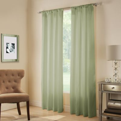 Midtown Rod Pocket 108-Window Curtain Panel in Aloe