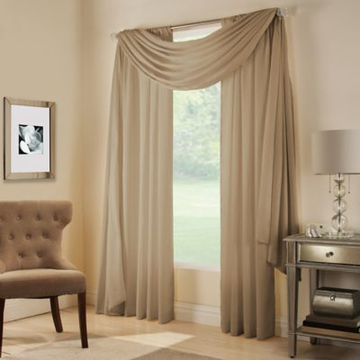 Brown Window Scarfs and Valance