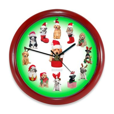 Christmas Puppy Clock