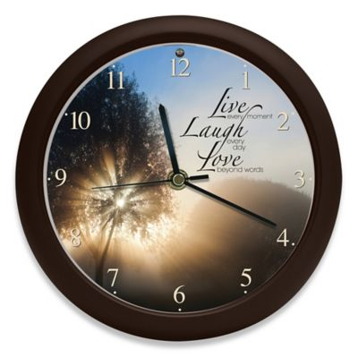 Inspirational Live Love Laugh Clock