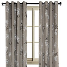 Crawford Floral Print Room Darkening Window Curtain Panel