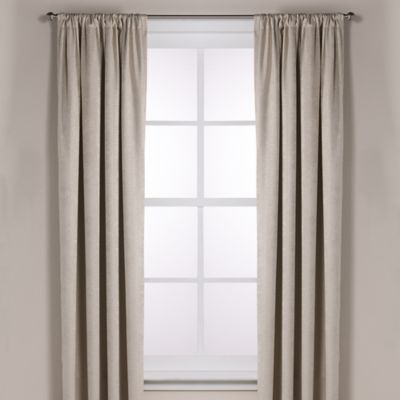Diamond Texture Rod Pocket Room Darkening 108-Inch Window Curtain Panel in Dune