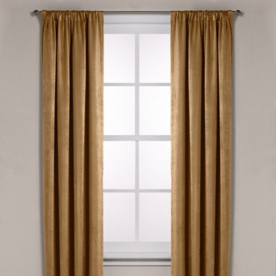 Diamond Texture Rod Pocket Room Darkening 95-Inch Window Curtain Panel in Black