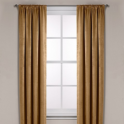 Diamond Texture Rod Pocket Room Darkening Window Curtain