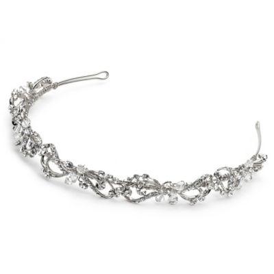 Rosabel Silvertone Vine Bridal Headband