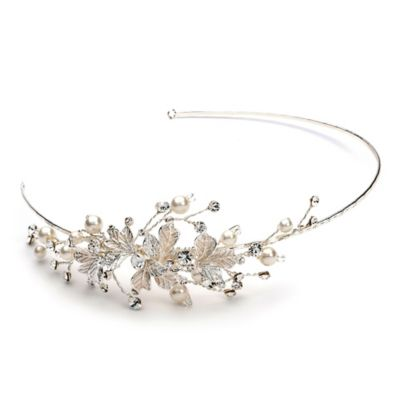 Lila Simulated Pearl Bridal Headband
